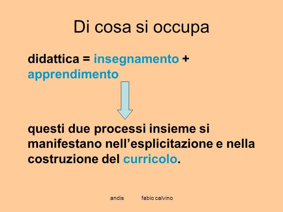 Di cosa si occupa didattica = insegnamento + apprendimento