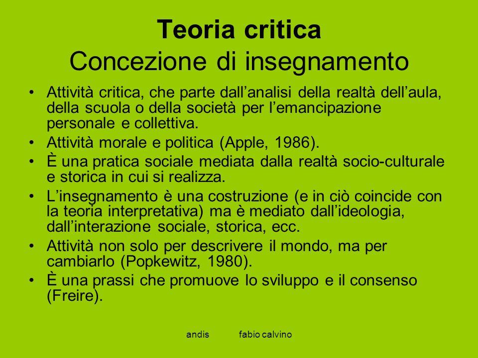 Teoria critica Concezione di insegnamento