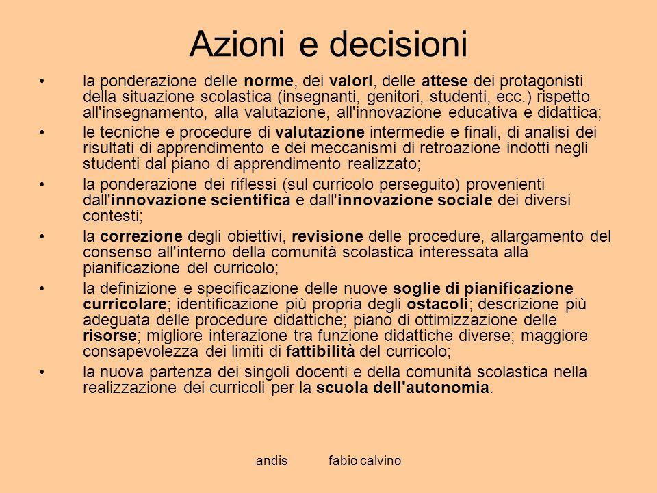 Azioni e decisioni