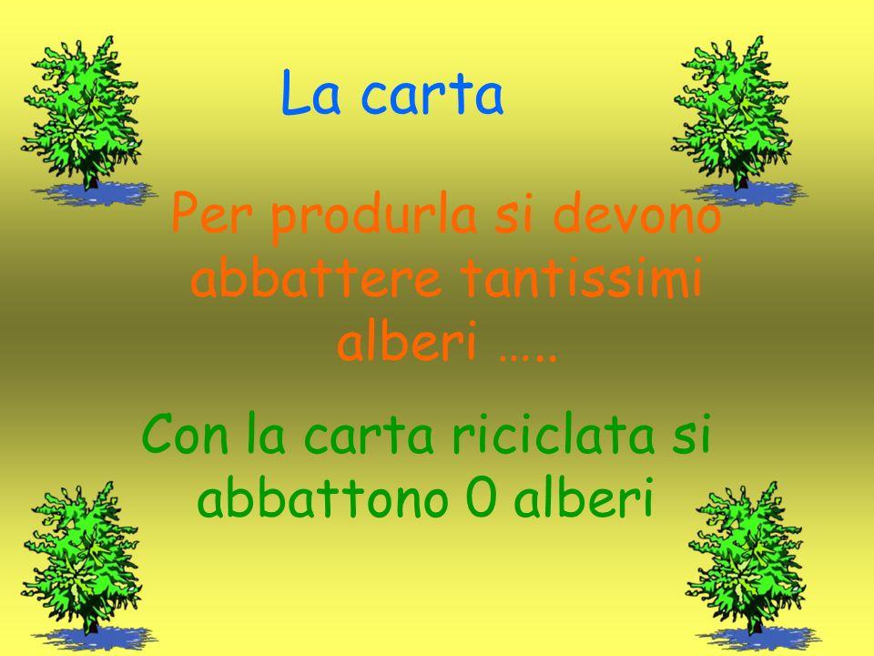La carta Per produrla si devono abbattere tantissimi alberi …..