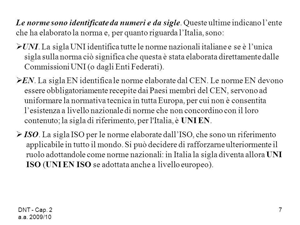 Commissioni UNI (o dagli Enti Federati).