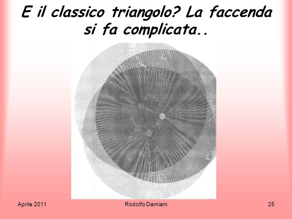 E il classico triangolo La faccenda si fa complicata..