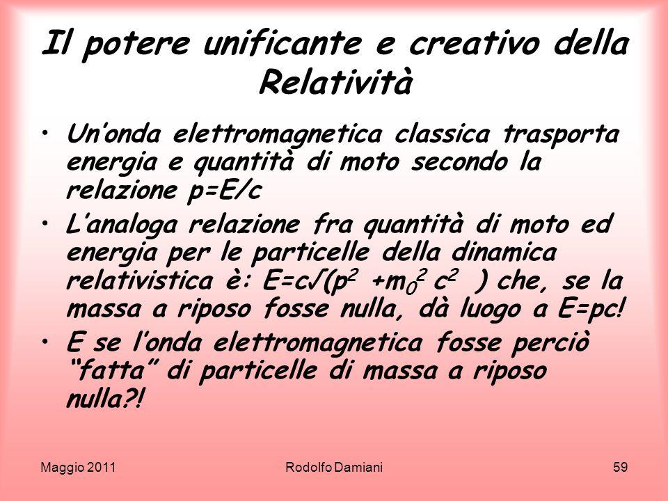 Il potere unificante e creativo della Relatività