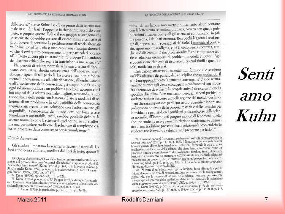 Sentiamo Kuhn Marzo 2011 Rodolfo Damiani