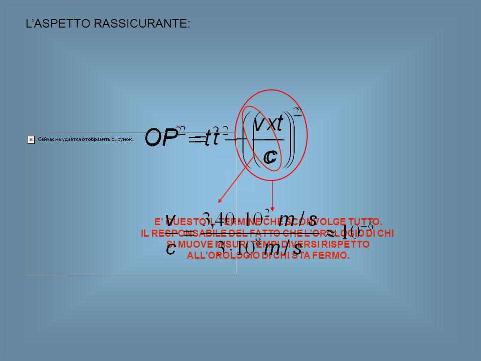 L'ASPETTO RASSICURANTE: