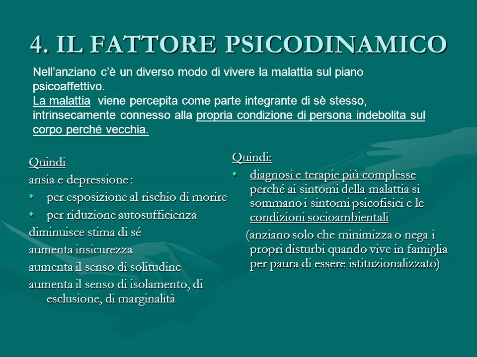 4. IL FATTORE PSICODINAMICO