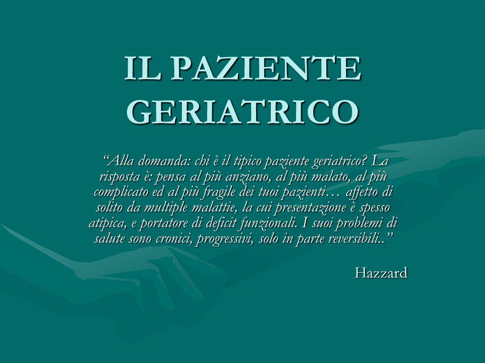 IL PAZIENTE GERIATRICO