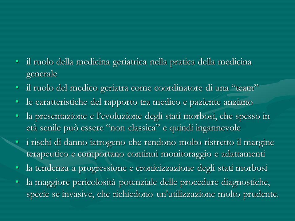 il ruolo della medicina geriatrica nella pratica della medicina generale