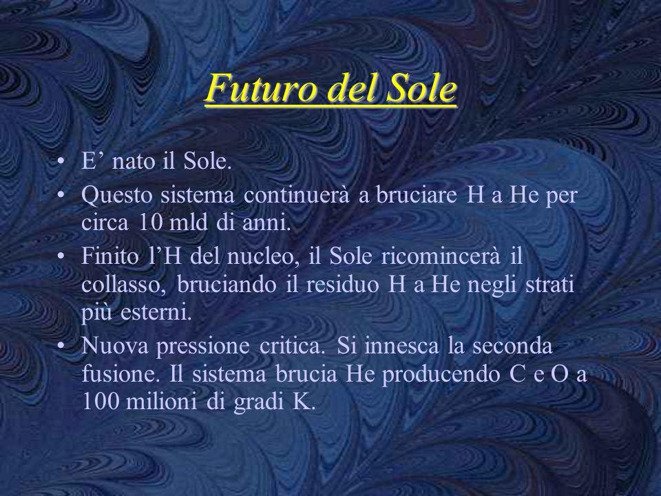 Futuro del Sole E' nato il Sole.