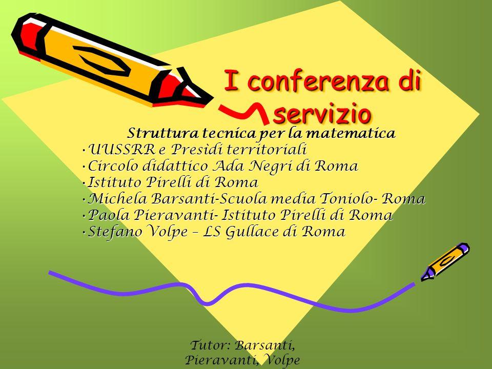 I conferenza di servizio