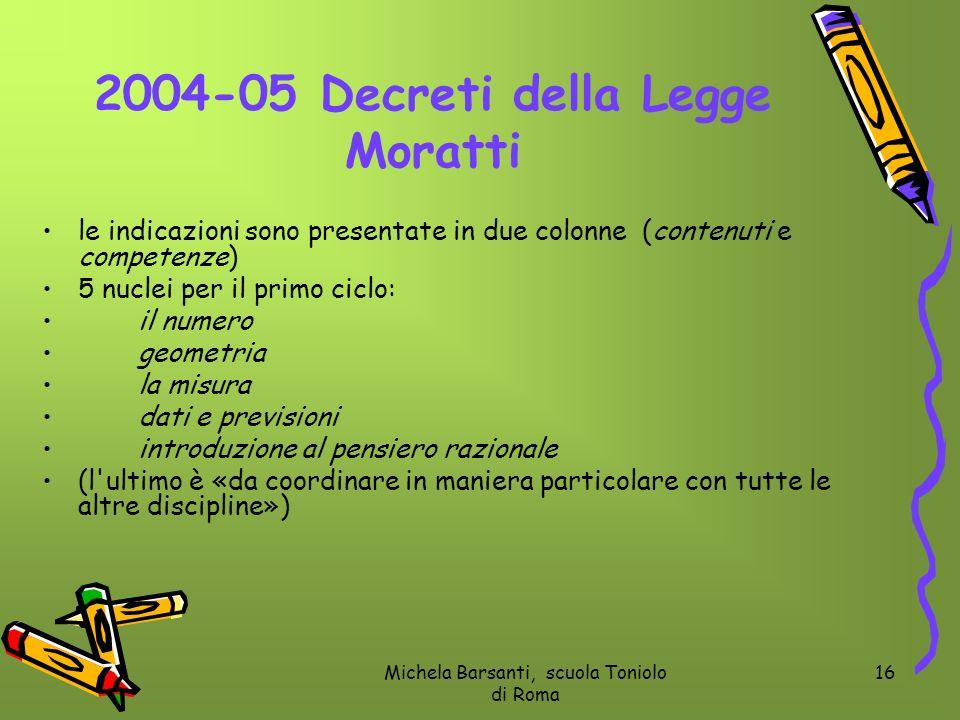 2004-05 Decreti della Legge Moratti