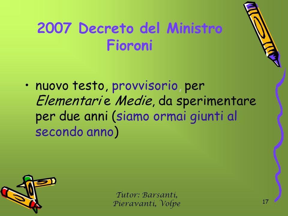 2007 Decreto del Ministro Fioroni
