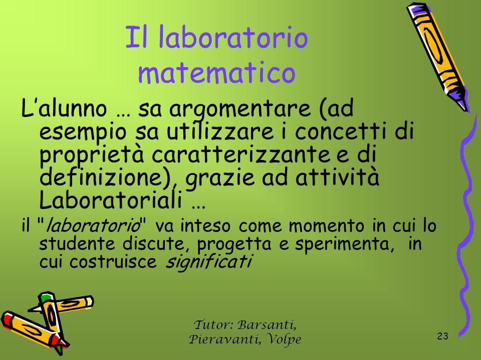 Il laboratorio matematico
