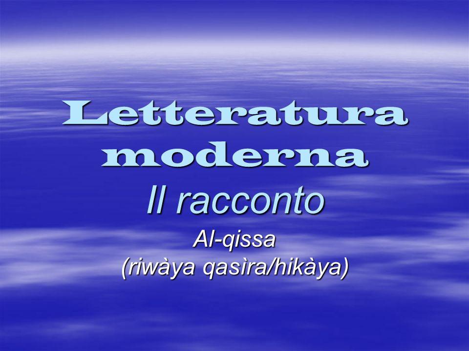 Letteratura moderna Il racconto