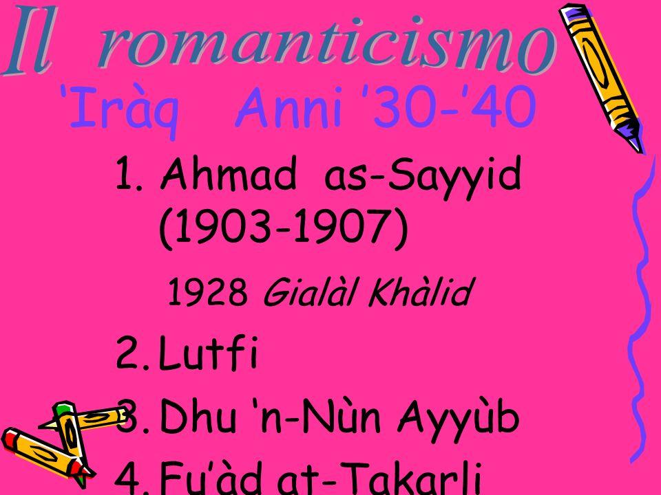 'Iràq Anni '30-'40 Ahmad as-Sayyid (1903-1907) 1928 Gialàl Khàlid