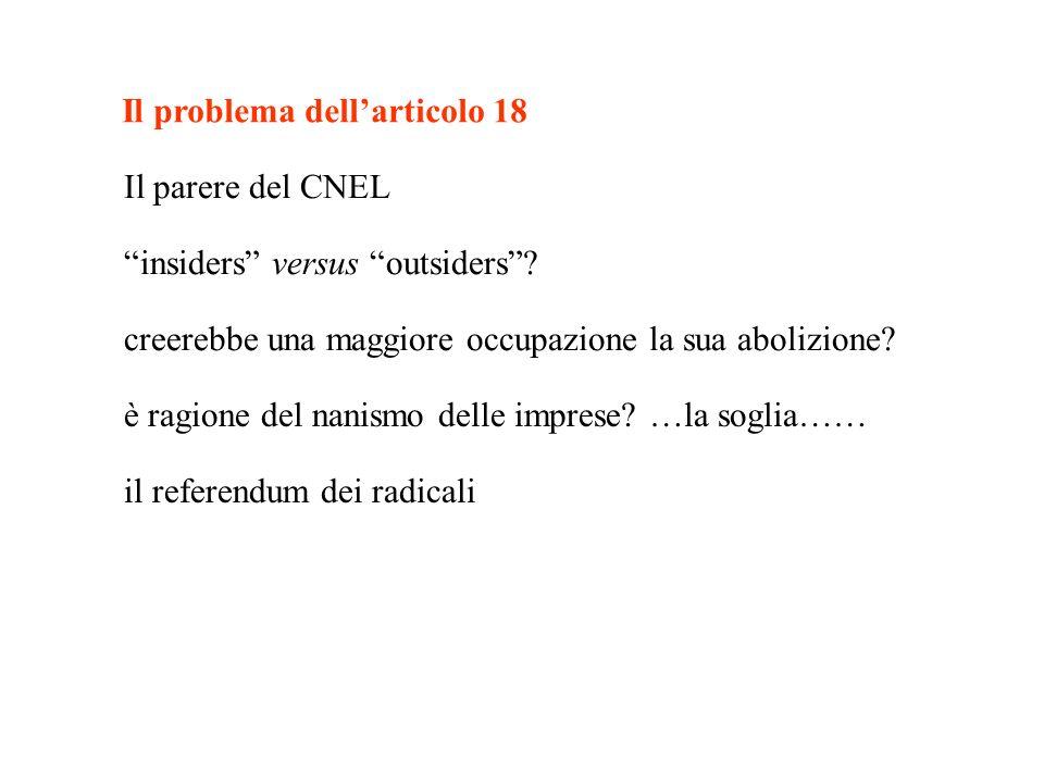 Il problema dell'articolo 18