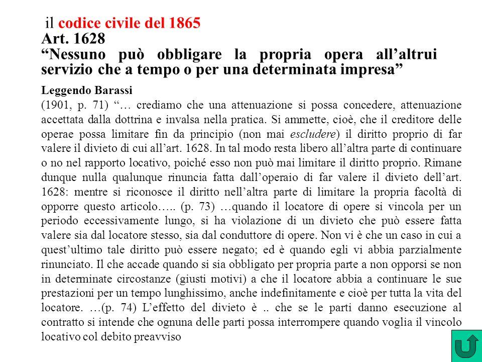 il codice civile del 1865 Art. 1628