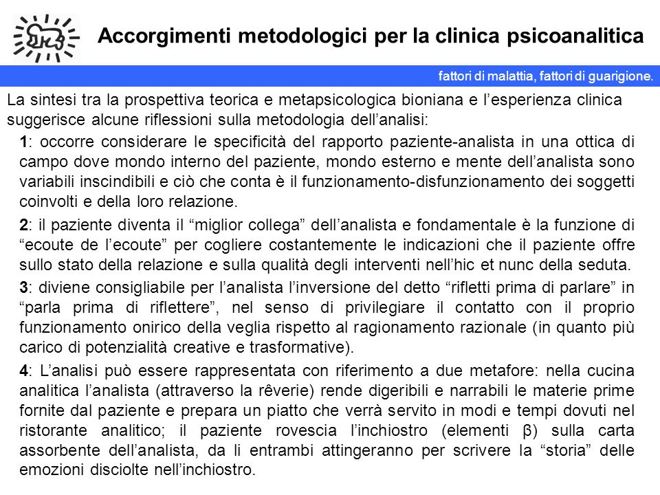 Accorgimenti metodologici per la clinica psicoanalitica