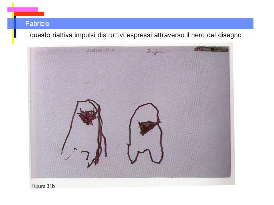 Fabrizio …questo riattiva impulsi distruttivi espressi attraverso il nero del disegno…