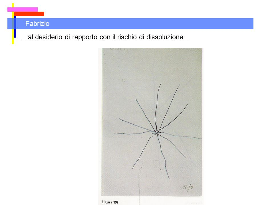 Fabrizio …al desiderio di rapporto con il rischio di dissoluzione…