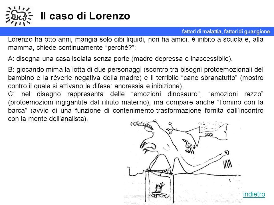 Il caso di Lorenzo fattori di malattia, fattori di guarigione.