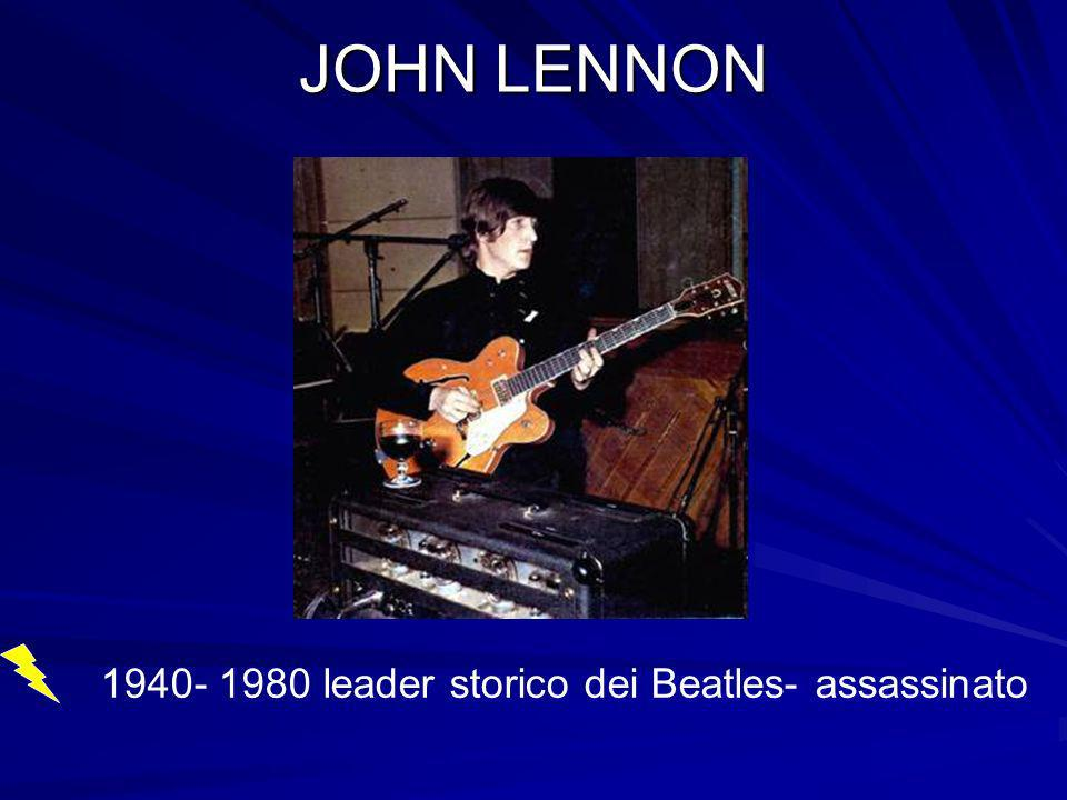 leader storico dei Beatles- assassinato