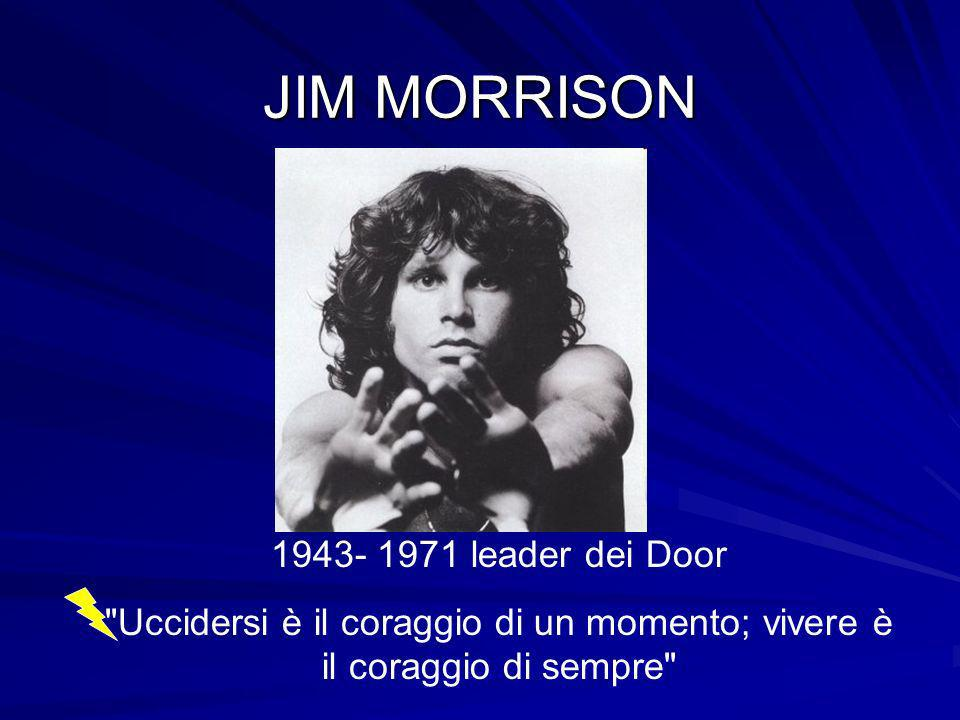 JIM MORRISON leader dei Door
