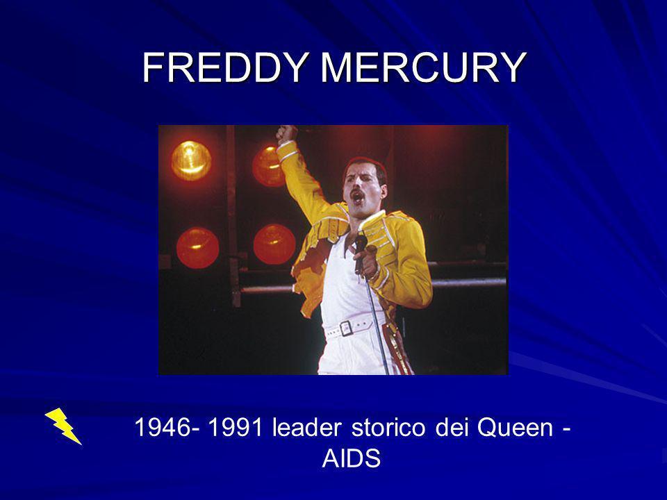 1946- 1991 leader storico dei Queen - AIDS
