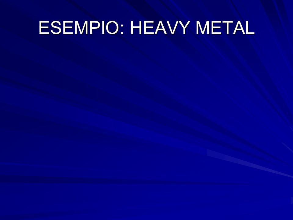 ESEMPIO: HEAVY METAL
