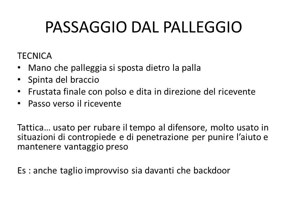 PASSAGGIO DAL PALLEGGIO