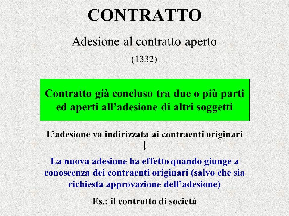 Adesione al contratto aperto (1332)