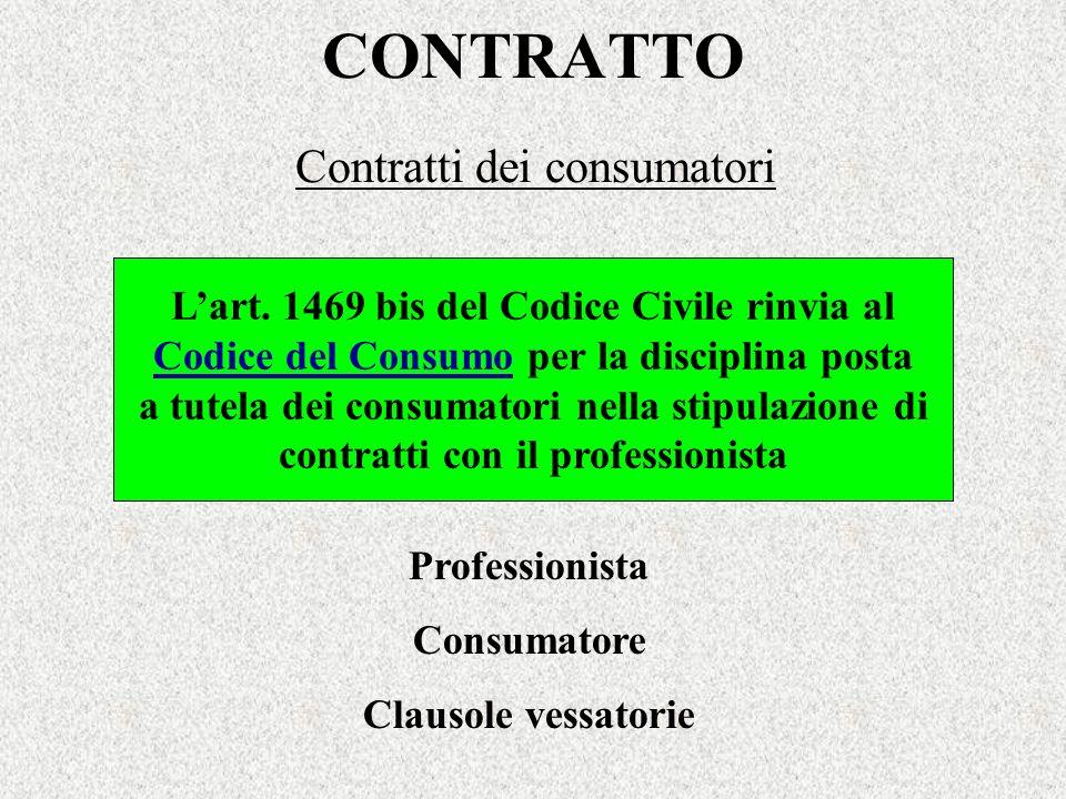 Contratti dei consumatori