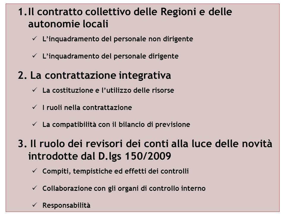 Il contratto collettivo delle Regioni e delle autonomie locali