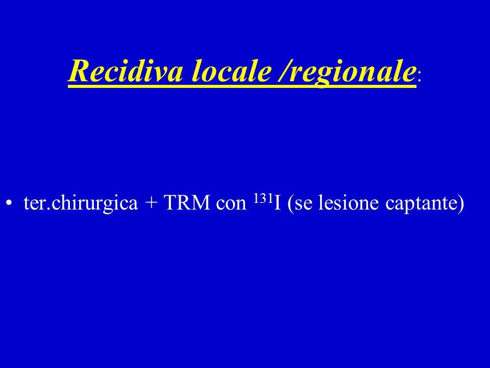 Recidiva locale /regionale: