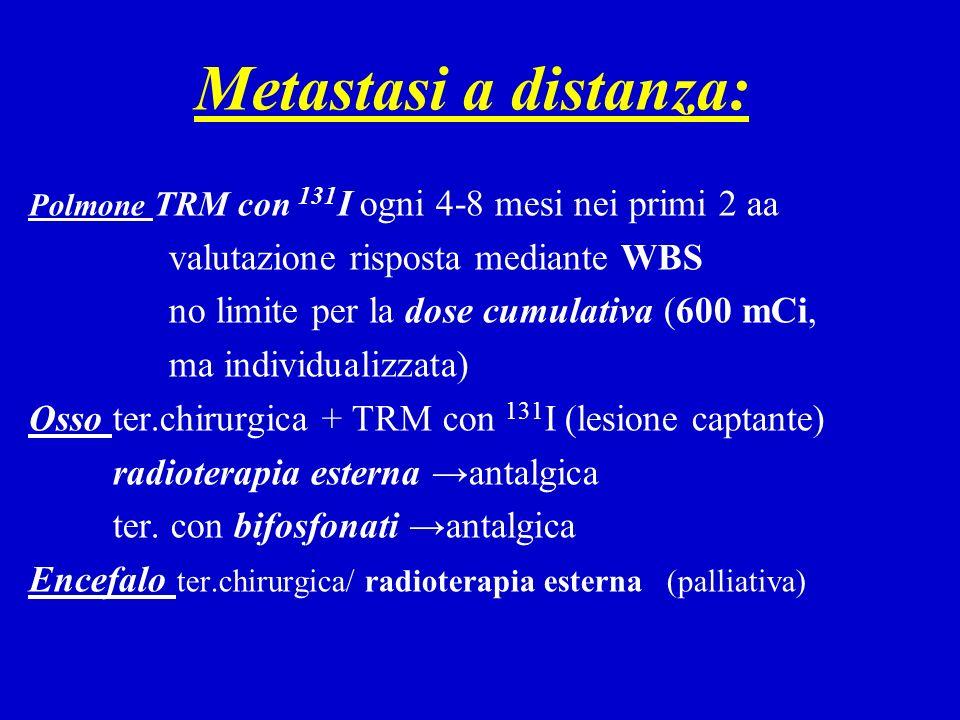 Metastasi a distanza: valutazione risposta mediante WBS