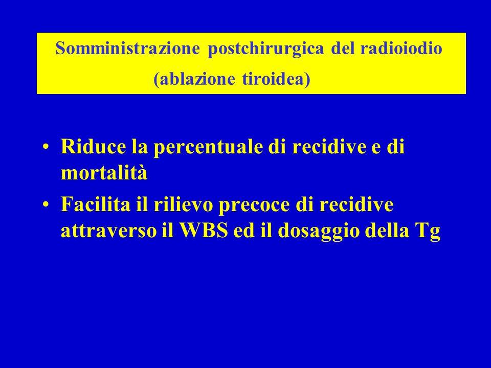 Somministrazione postchirurgica del radioiodio (ablazione tiroidea)