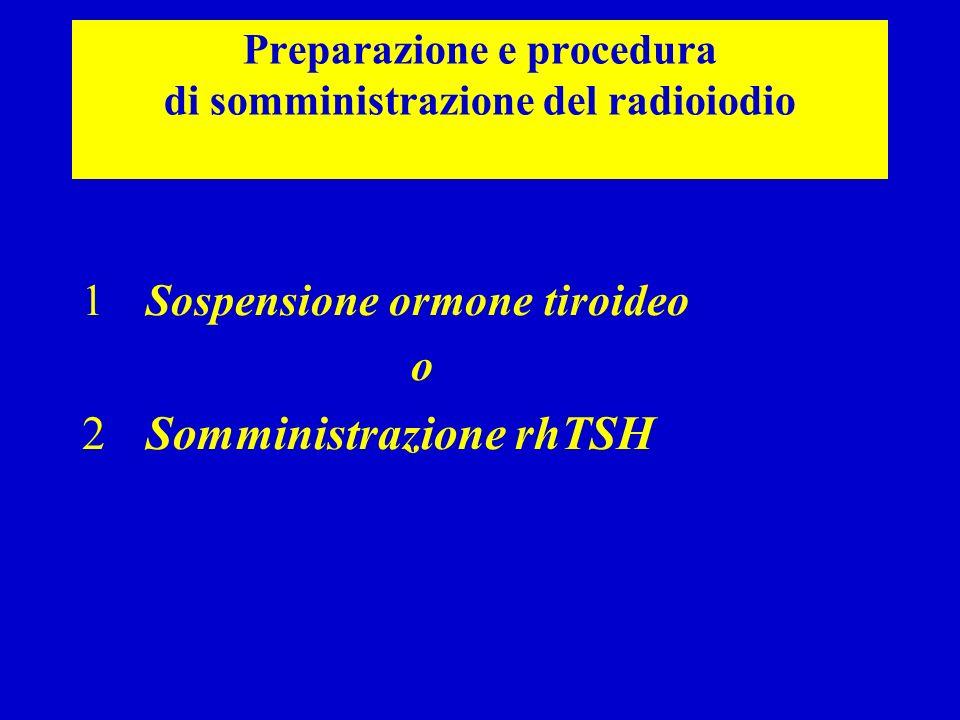 Preparazione e procedura di somministrazione del radioiodio