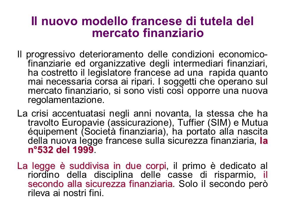 Il nuovo modello francese di tutela del mercato finanziario