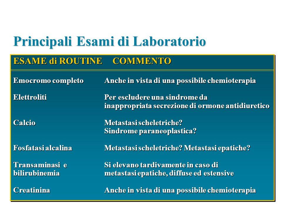 Principali Esami di Laboratorio