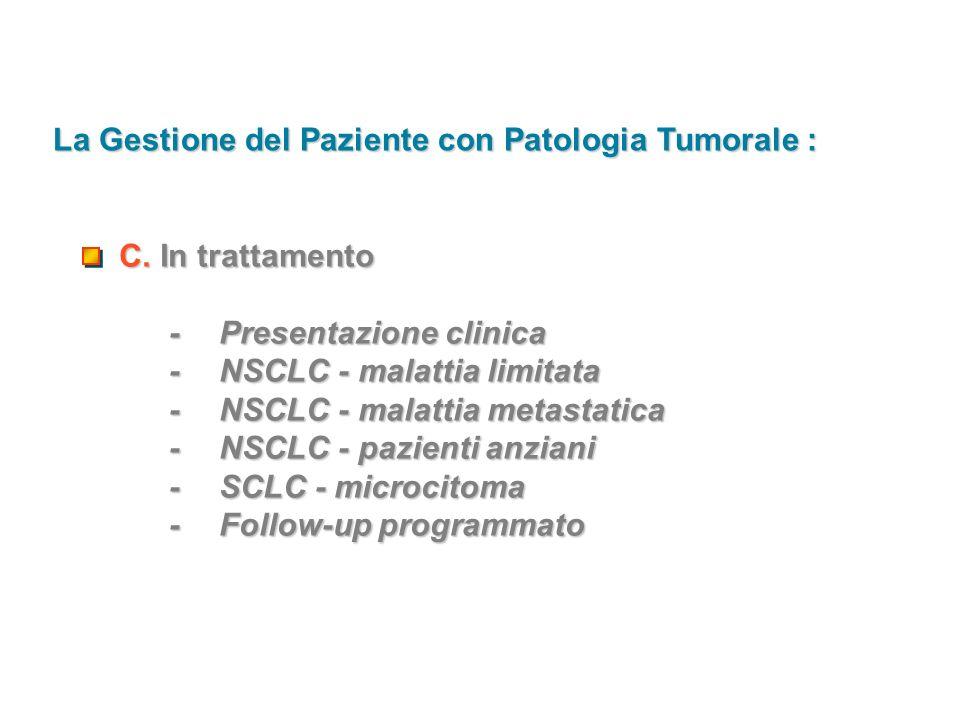 La Gestione del Paziente con Patologia Tumorale :