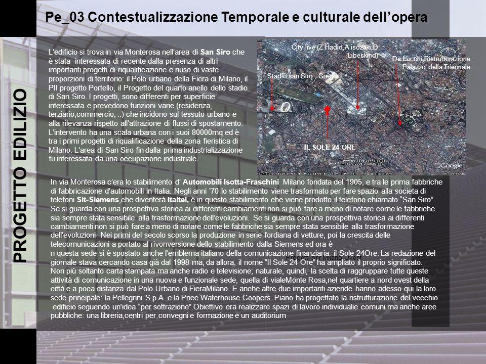 Pe_03 Contestualizzazione Temporale e culturale dell'opera