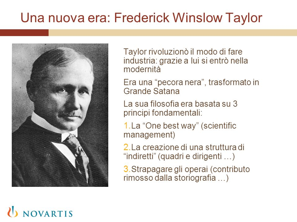 Una nuova era: Frederick Winslow Taylor
