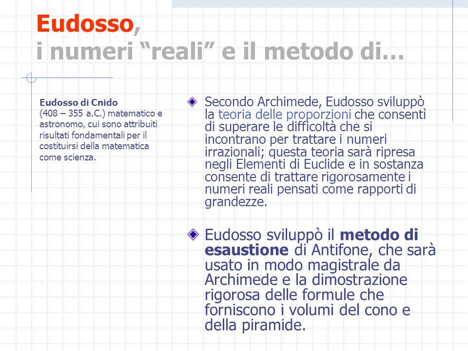 Eudosso, i numeri reali e il metodo di…