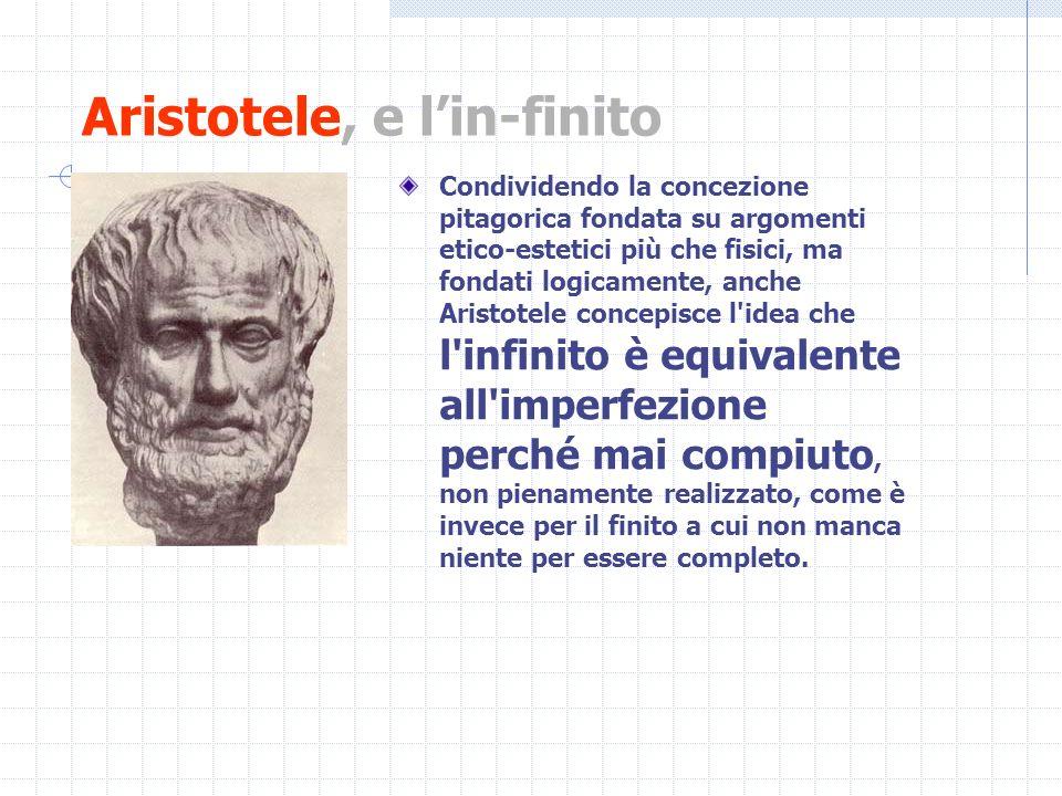 Aristotele, e l'in-finito