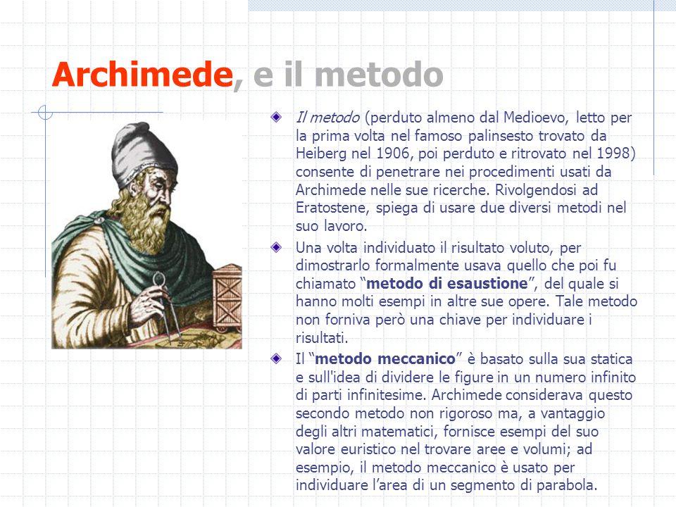 Archimede, e il metodo