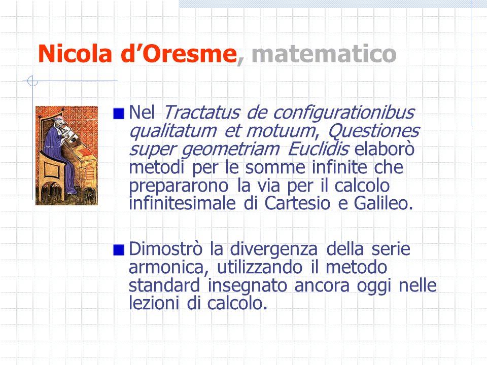 Nicola d'Oresme, matematico