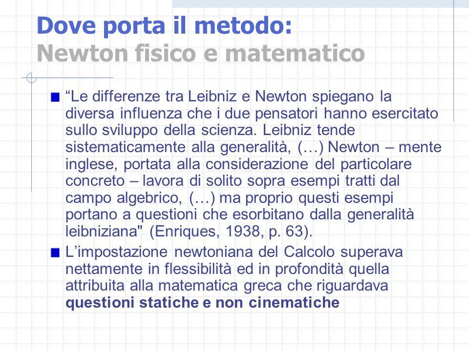 Dove porta il metodo: Newton fisico e matematico