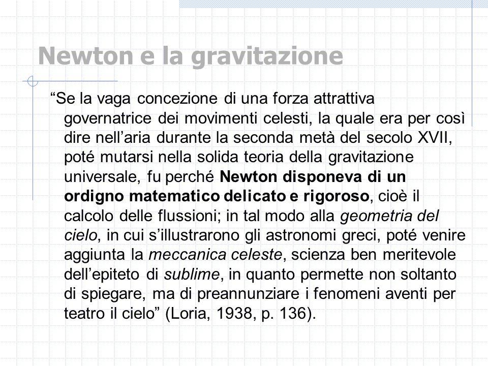 Newton e la gravitazione