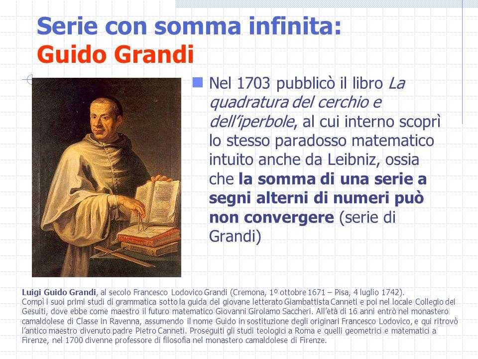 Serie con somma infinita: Guido Grandi
