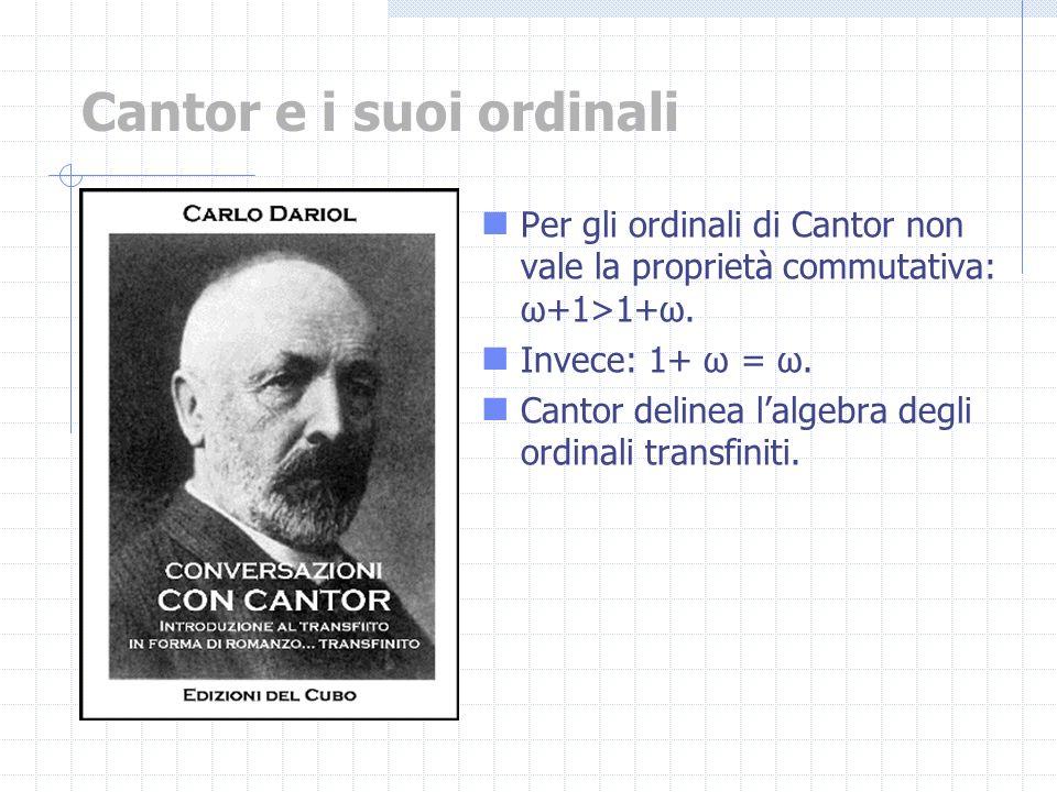 Cantor e i suoi ordinali